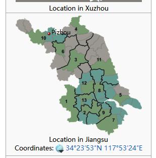 la situación del mercado en el condado de PIzhou